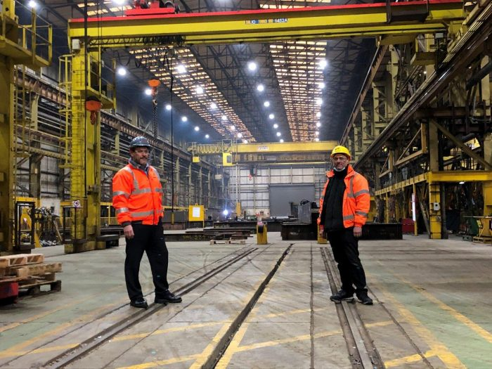 (L-R) Keith Shimmin, Head of Operations at Cleveland Bridge and Gary Rudd, director at LED Supply & Fit